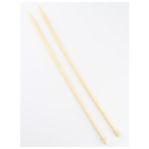 Купить Спицы для вязания d10.0мм 35см-36см, BL2, Гамма, бамбук, Gamma