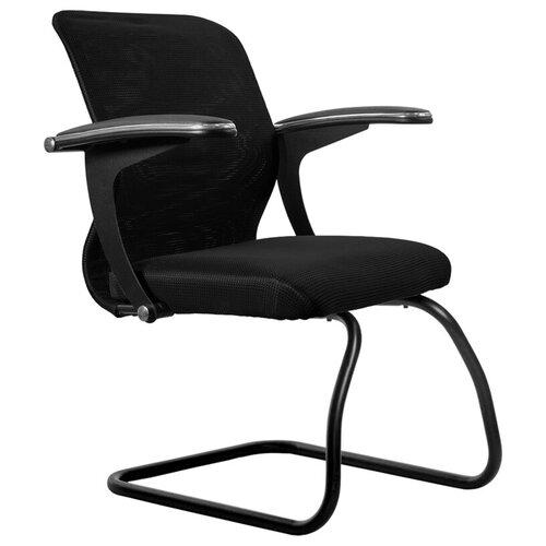 Конференц-кресла Конференц-кресло Метта SU-M-4F2, металл черный, ткань черная/черная
