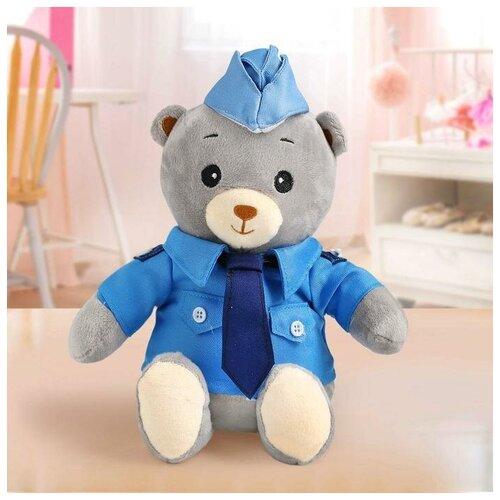 Мишка лаппи Медведь в костюме полицейского, сидит, 22 см