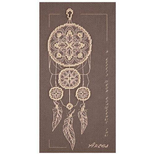 Купить PANNA Набор для вышивания крестиком с бисером Ангел снов 12 х 25 см (SO-7074), Наборы для вышивания