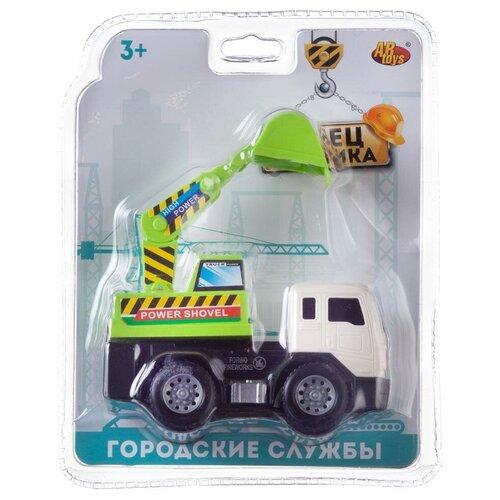 Машинка инерционная Abtoys Cпецтехника Экскаватор-грузовик мини