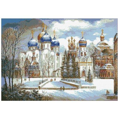 Купить Алмазная мозаика Русь православная, картина стразами Паутинка 56x40 см., Алмазная вышивка