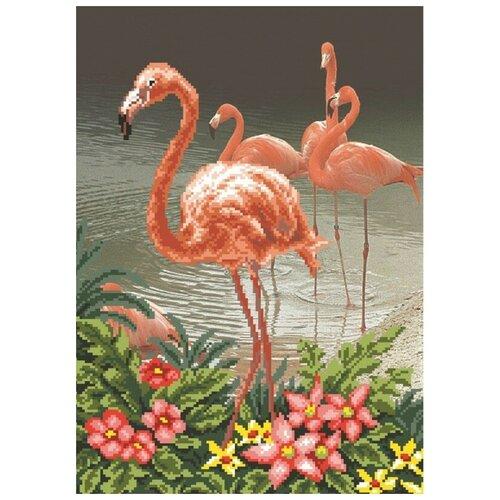 Купить Фламинго Набор для вышивания бисером 37х49 (27х37) Матренин Посад 0002/Б, Матрёнин Посад, Наборы для вышивания
