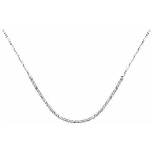 SOKOLOV Колье из серебра с фианитами 94074560, 55 см, 4.49 г