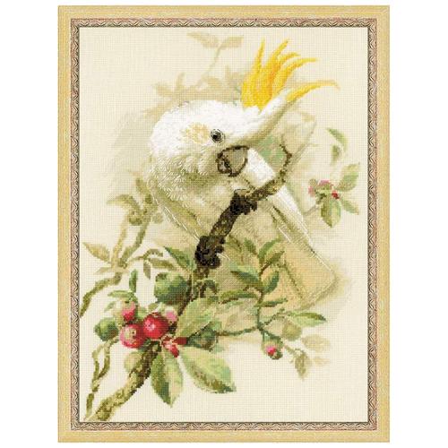 Купить Риолис Набор для вышивания крестом Белый какаду 30 x 40 (1362), Наборы для вышивания
