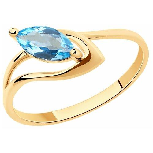 Diamant Кольцо из золота с топазом 51-310-00974-1, размер 16.5 diamant кольцо из золота с топазом 51 310 00971 1 размер 17