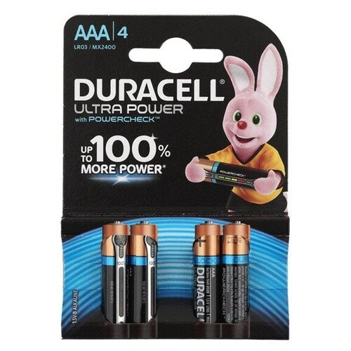 Фото - Батарея Duracell Ultra Power LR03-4BL AAA (4шт) батарея duracell ultra power lr03 4bl aaa 4шт