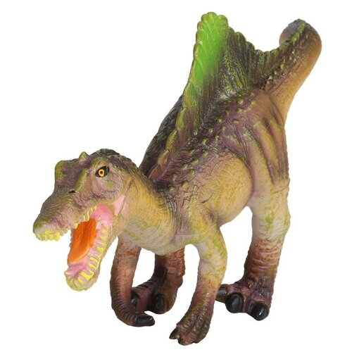 Купить Игрушка для детей Динозавр ТМ КОМПАНИЯ ДРУЗЕЙ , серия Животные планеты Земля , с чипом, звук - рёв животного, игрушечное животное, дикий игрушечный зверь, эластичный пластик, , 28X10.5X14.8 см, Компания Друзей, Игровые наборы и фигурки