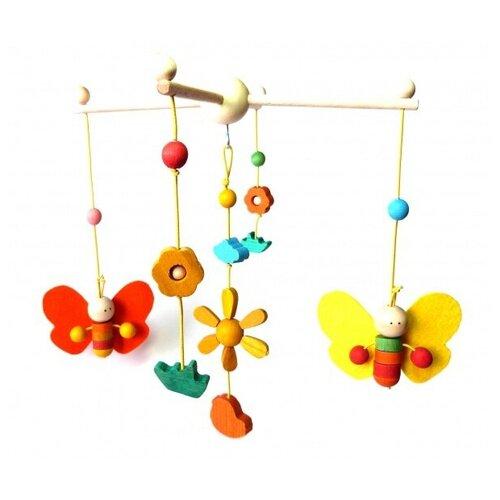Купить Мобиль Танцующие бабочки, WoodFun, Мобили