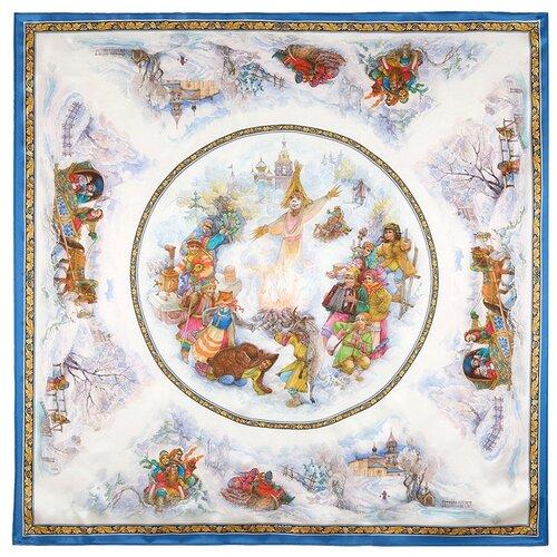 Платок Павловопосадский рисунок: 10047 вид: 13, Весёлая масленица, автор рисунка: Рогатов Дмитрий.
