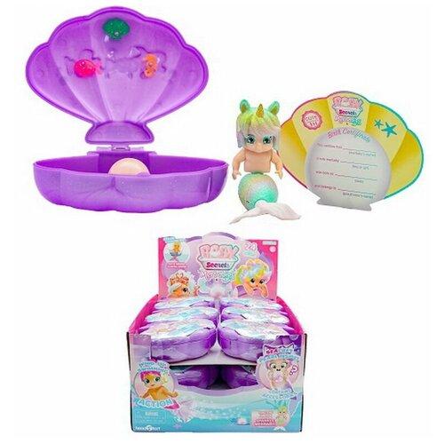 Baby Secrets Merbabes, коллекционная куколка-русалка в ракушке, 2 серия, 11 шт в ассортименте+1 редкий