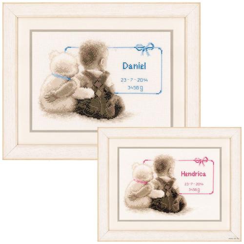 Купить Vervaco Набор для вышивания Мой любимый плюшевый мишка 26 x 18 см (0021672-PN), Наборы для вышивания