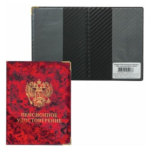 Обложка для пенсионного удостоверения, 116х85 мм, ПВХ, глянец, цвет ассорти, ОД 6-06, 12 шт.