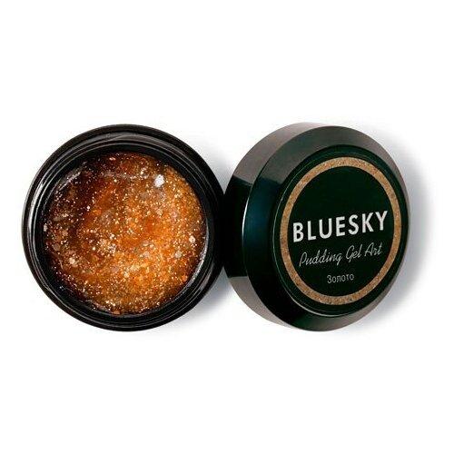 Фото - BLUESKY Bluesky, Pudding Gel ART - полигель с шиммером (Золото), 8 гр акригель bluesky pudding gel для моделирования 60 мл прозрачный