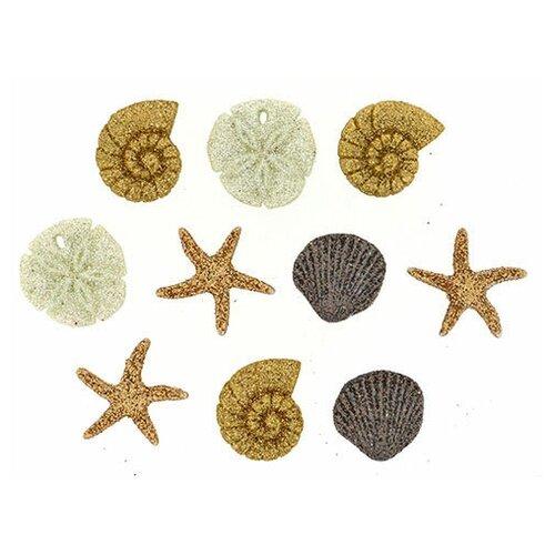 Фото - Пуговицы декоративные Seashells ~ ? 15 - 20 мм пластик 10 шт Jesse James 1177337 декор legend seashells 20 45 336763 73 44