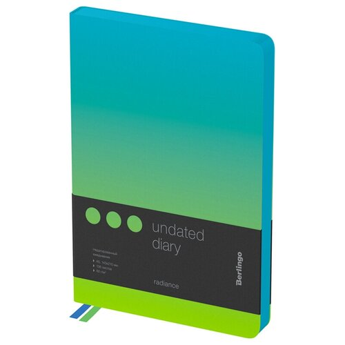Купить Ежедневник недатир. A5, 136л., кожзам, Berlingo Radiance , голубой/зеленый градиент, Ежедневники