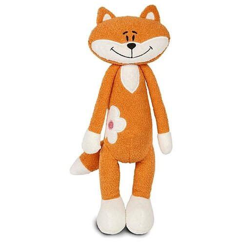 MaxiToys Мягкая игрушка «Лисичка», с цветочком, 33 см