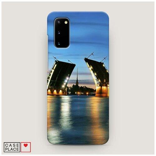 Чехол Пластиковый Samsung Galaxy S20 Разведенные мосты в СПб 2