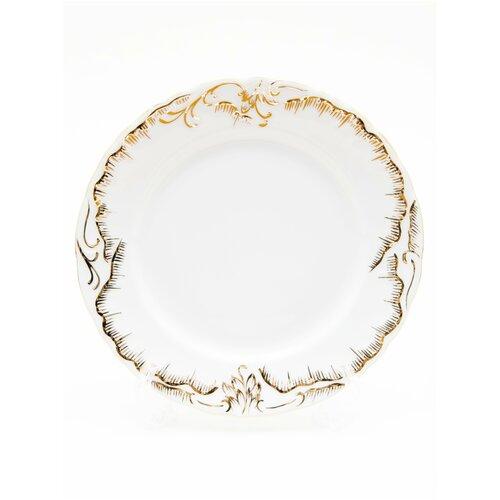 Тарелка Cmielow Rococo 7830 Anna рисунок золотом плоская 25 см. тарелка cmielow rococo плоская 25см фарфор 0031190 rococo