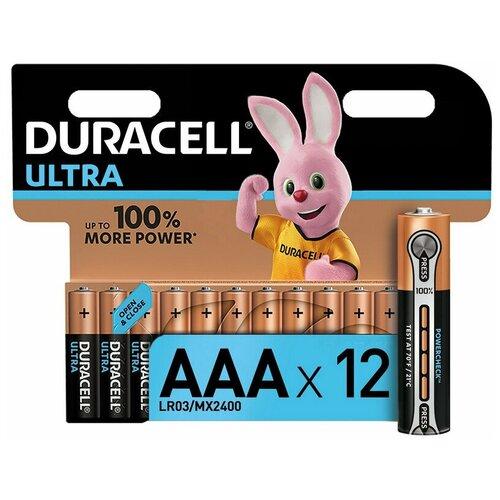 Фото - Батарейки DURACELL Ultra AAA/LR03-12BL батарея duracell ultra power lr03 4bl aaa 4шт