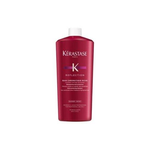 Фото - Kerastase Reflection Chromatique Riche Шампунь-ванна для окрашенных чувствительных или осветленных волос 1000 мл kerastase reflection chromatique masque epais