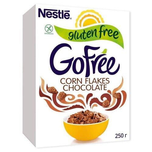 Фото - Завтрак NESTL? GOFREE хлопья кукурузные шоколадные,с витаминами, 250г хлопья кукурузные nestle gold snow flakes 300 г