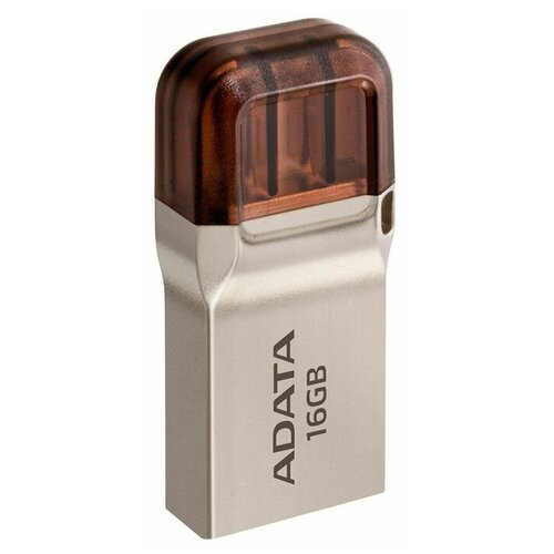 Флеш-накопитель USB 3.1 16GB A-Data UC360 (USB 3.1/MicroUSB) золото