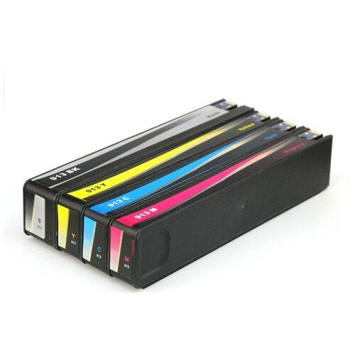 Комплект совместимых картриджей для HP PageWide 377dw, 352dw, Pro 477dw, 452dw, (913A) неоригинальные, 4 цвета, im.H-913A