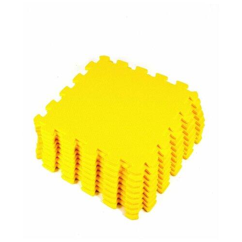 Мягкий пол универсальный Желтый 33*33 см, 9 деталей мягкий пол eco cover универсальный 30х30 см сад огород 9 деталей