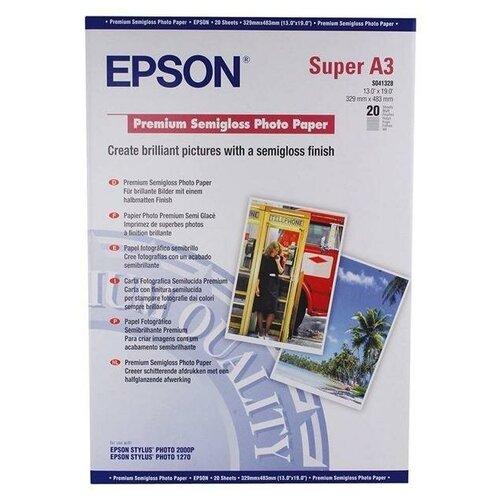 Epson C13S041328 Бумага Premium Semiglossy Photo Paper A3+ 251 г / м2, 20 листов