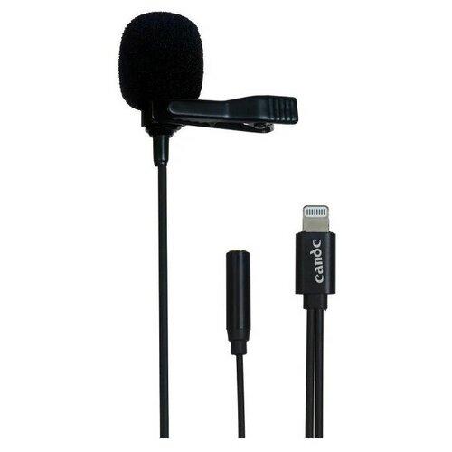 Микрофон CANDC DC-C11, петличный, Lightning+AUX, 6 м, черный