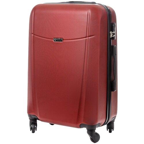 чемодан bonle премиум abs пластик салатовый размер s 55 см 37 л Чемодан Bonle, премиум ABS-пластик, Винный, размер M, 65 см, 62 л