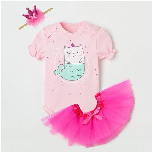 Купить Комплект одежды Крошка Я размер 62-68, розовый, Комплекты