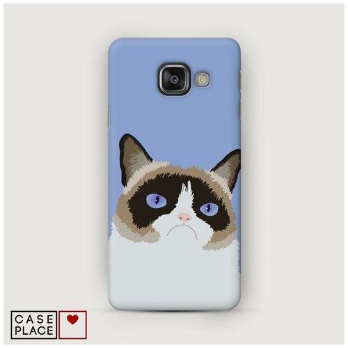 Чехол Пластиковый Samsung Galaxy A5 2016 Мем грустный кот