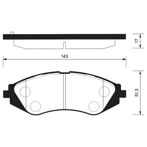 Дисковые тормозные колодки передние SANGSIN BRAKE SP1077 для Chevrolet, Daewoo (4 шт.)