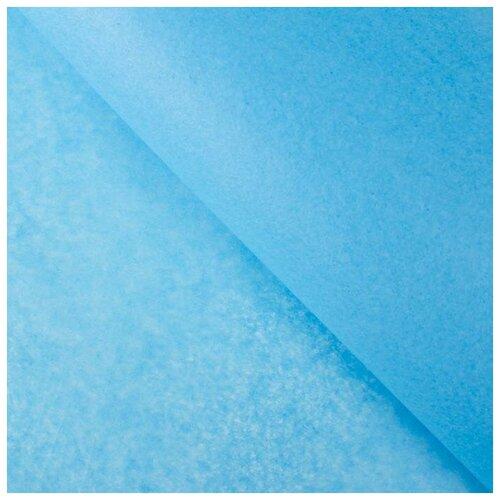 Бумага упаковочная тишью, голубой, 50 см х 66 см, набор 10 шт. 7059626
