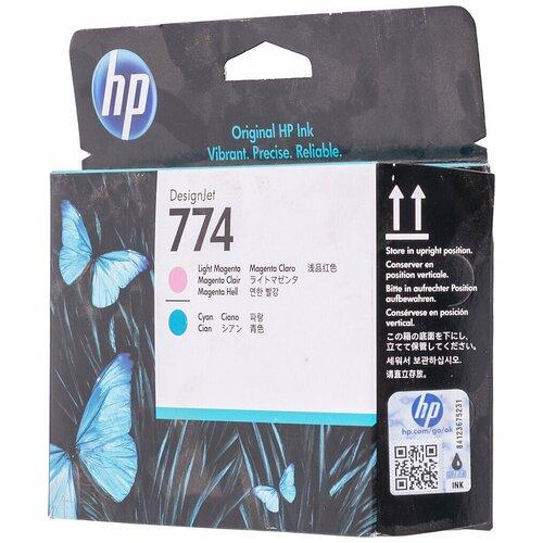 Фото - Картридж струйный HP 774 P2V98A светло-пурпурный/светло-голубой (775мл ) для HP DJ Z6810 картридж струйный hp 771c b6y09a пурпурный 130мл для hp dj z6200