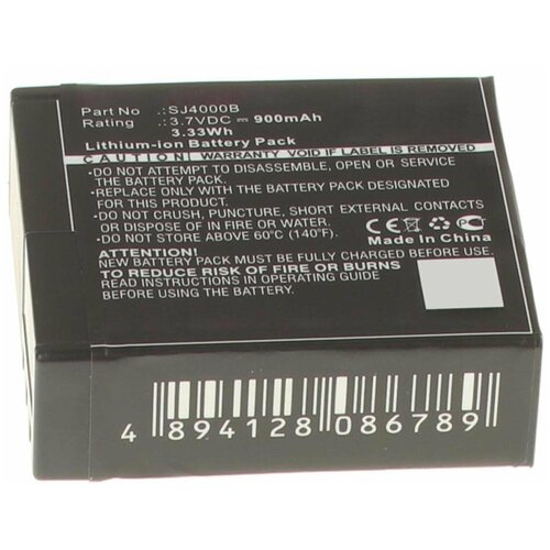 Фото - Аккумулятор iBatt iB-U1-F441 900mAh для SJCAM SJ4000, аккумулятор ibatt ib u1 f428 1180mah для gopro hd hero3 hd hero3
