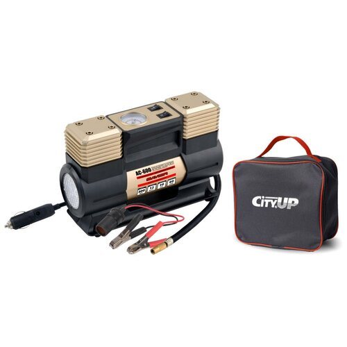 Автомобильный компрессор CityUP AC-600 Savior, 60л/мин. Двухпоршневой