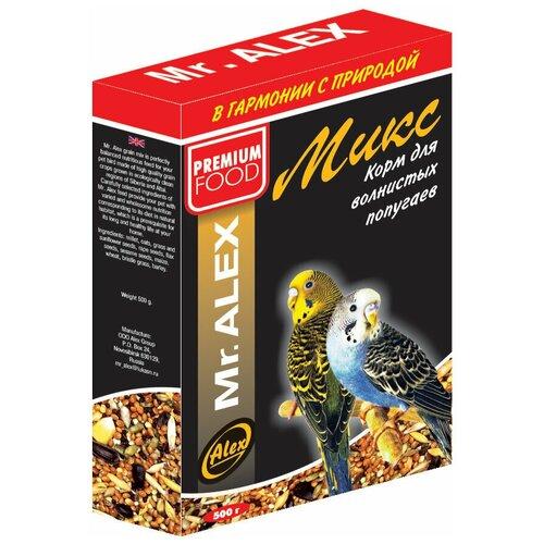 Фото - Mr. ALEX Корм для попугаев Микс 500г mr alex basic корм двп минерал 500г