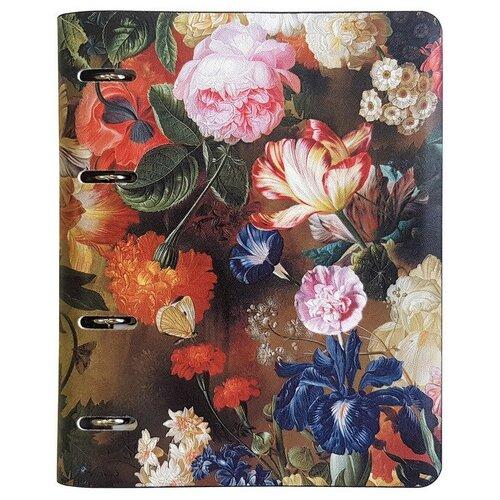 Купить Тетрадь на кольцах Flowers, А5/120л, N813, InFolio, Тетради