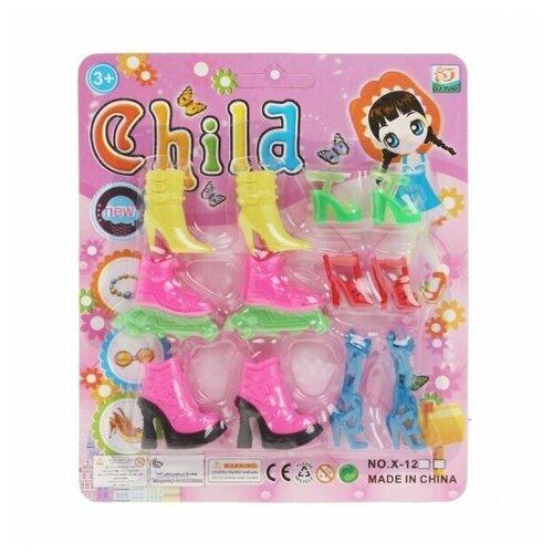 Набор обуви для кукол 6 пар, блистер