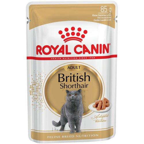Влажный корм для кошек Royal Canin British Shorthair (Британская короткошерстная) Adult 85гх24шт royal canin royal canin british shorthair 34 для породы британская короткошерстная старше 12 мес 4кг
