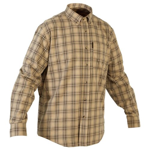 Рубашка муж. для охоты 100 SOLOGNAC х Decathlon Беж XXXXL