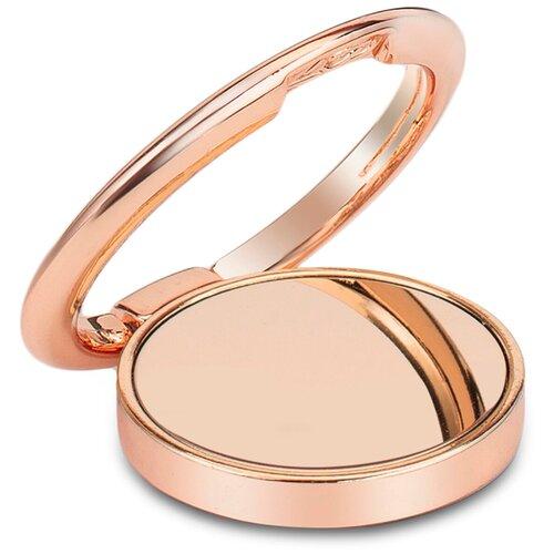 Кольцо держатель для телефона / Зеркальное / 36 мм Розовое золото