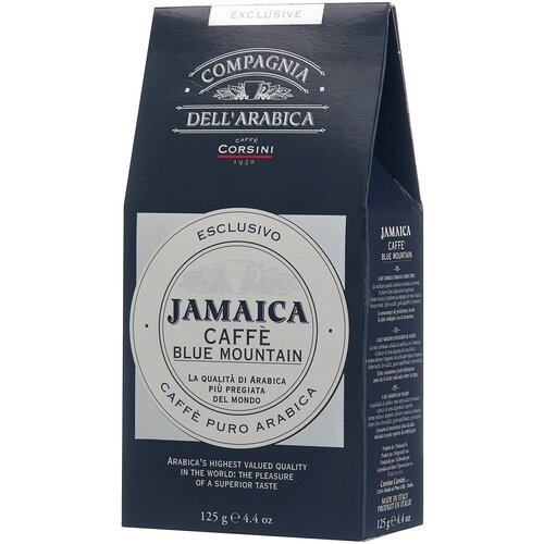 Фото - Кофе молотый Compagnia Dell' Arabica Jamaica Blue Mountain вакуумная упаковка, 125 г кофе молотый compagnia dell arabica brasil santos 125 г