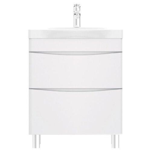 Фото - Тумба для ванной комнаты с раковиной AM.PM Like напольная, ШхГхВ: 65х45х85 см, цвет: белый глянец тумба для ванной комнаты с раковиной am pm like напольная шхгхв 80х45х85 см цвет белый глянец