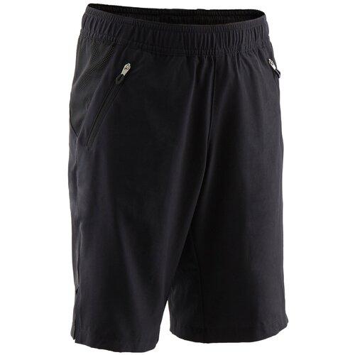 Шорты дышащие W500 для мальчиков спортивные, размер: 141-150CM10-11A, цвет: Черный/Черный DOMYOS Х Декатлон