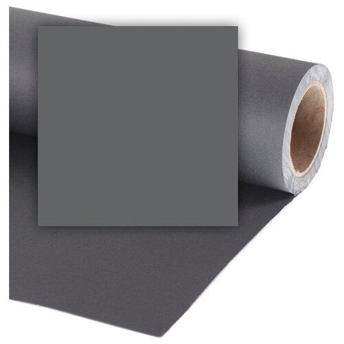 Фото - Фон Colorama Charcoal, бумажный, 2.18 x 11 м, темно-серый фон бумажный colorama ll co531 1 35x11 м maize