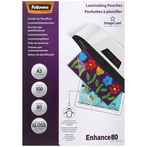 Фото - Fellowes А3 FS-53062 пленка для ламинирования, 80 мкм (100 шт) пленка для ламинирования a5 fellowes fs 53060 154 216мкм 80 мкм глянец 100л